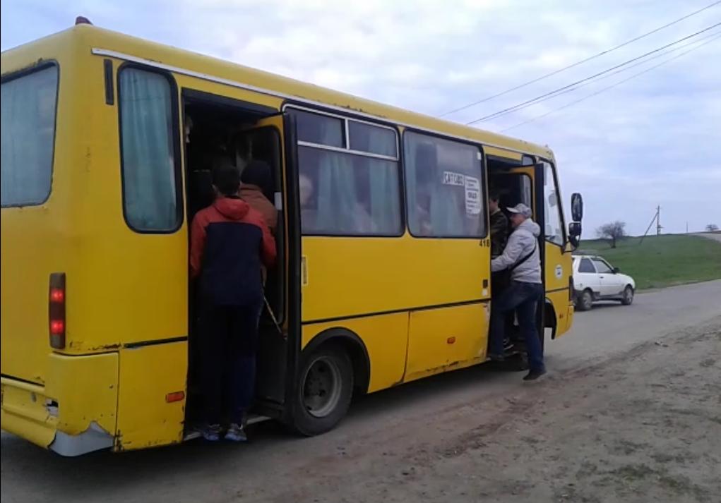 Заповнення автобусу понад усі нормативи