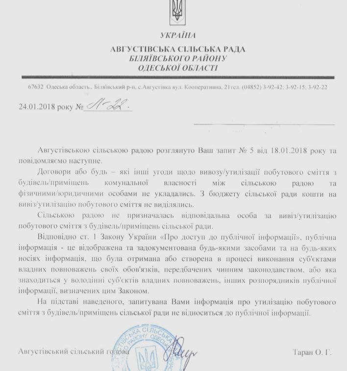Вивіз сміття з приміщення с.р
